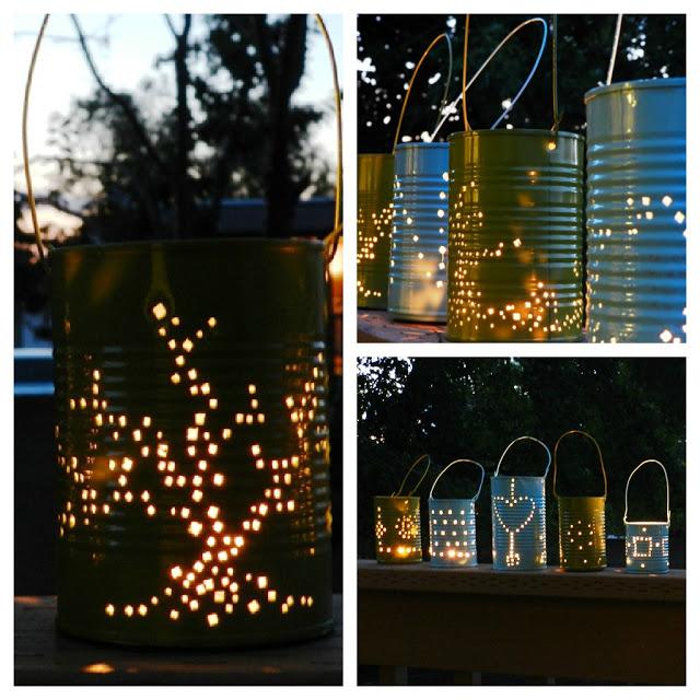 lanterne bricolage, lanterne jardin,