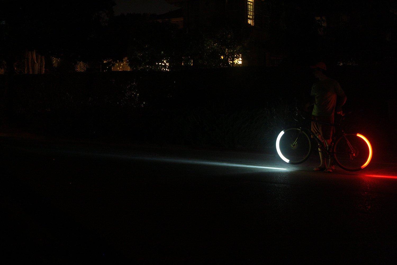 vélo de nuit, lumière vélo nuit,