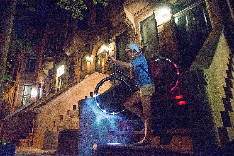 lumière led roues de vélo, led sur les roues de vélo,