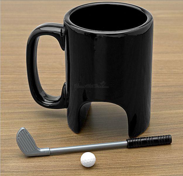 tasse café golf, tasse à café golfeur,