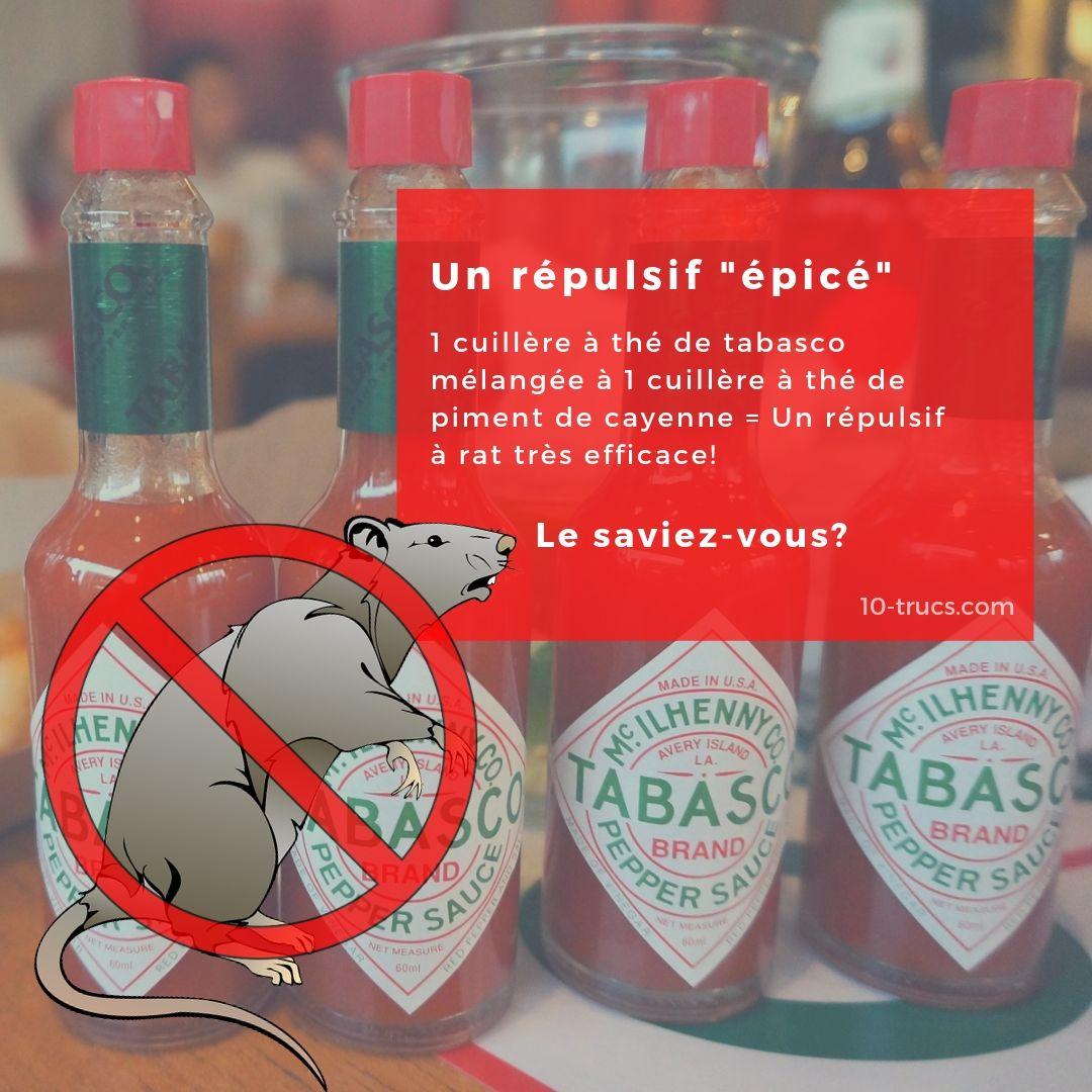 Répulsif avec tabasco contre les rats