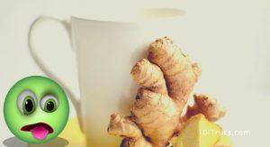 Enlever le mal de coeur avec le gingembre