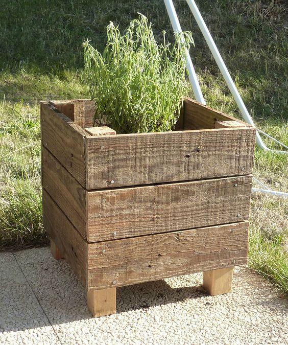 Fabriquer un bac de jardinage avec le bois de palette