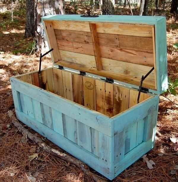 fabriquer un coffre en bois de palette