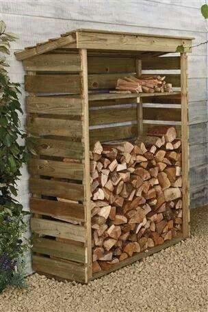 Recycler le bois de palette en rangement pour le bois de chauffage