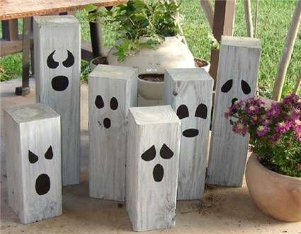 fabriquer des fantômes en bois