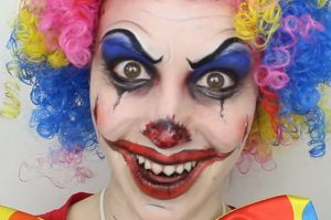 maquillage clown qui fait peur
