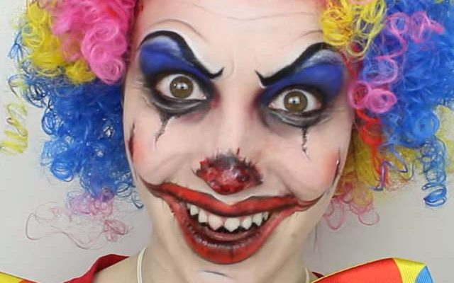 Maquillage d\u0027Halloween le clown diabolique ,