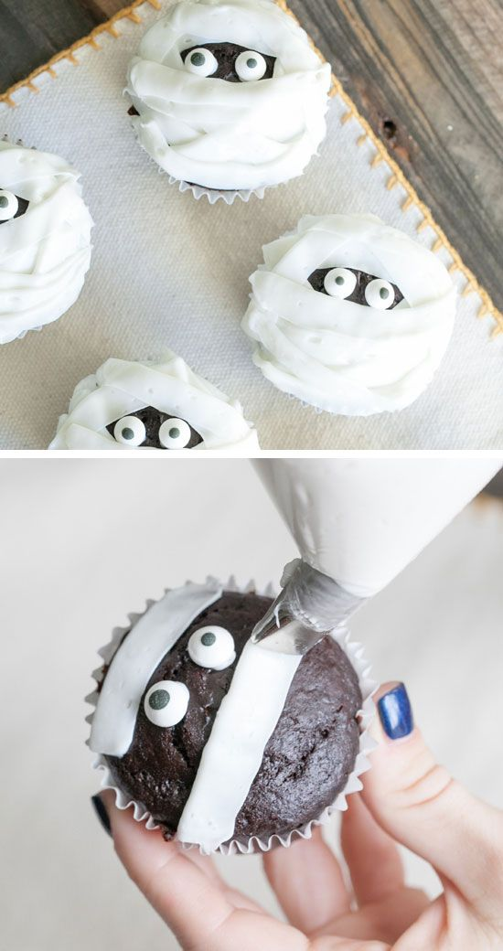 muffin momie, cupcake momie halloween,