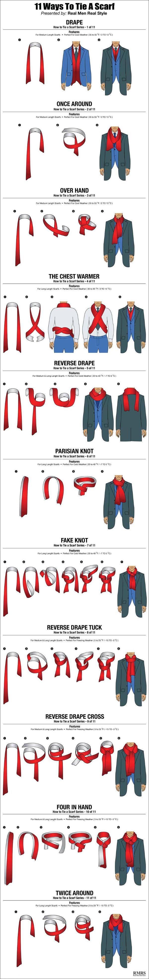 comment nouer un foulard pour un homme