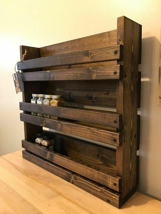 Fabriquer un rangement pour épices avec une palette de bois