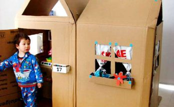 bricolage avec des boites de carton
