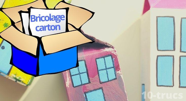 des idées bricolage à faire avec une boite de carton