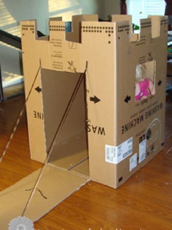 idée pour fabriquer un petit château en carton