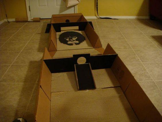 astuce pour fabriquer un jeu de mini-golf en carton