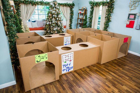 Idée bricolage d'un labyrinthe en carton