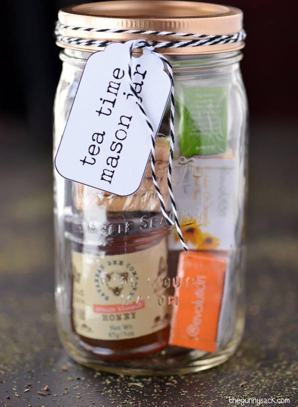 Idée cadeau dans un pot mason, du thé ou du café