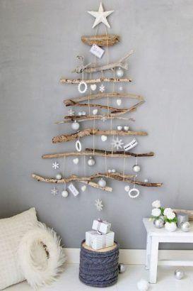 Idée pour fabriquer un sapin en bois suspendue