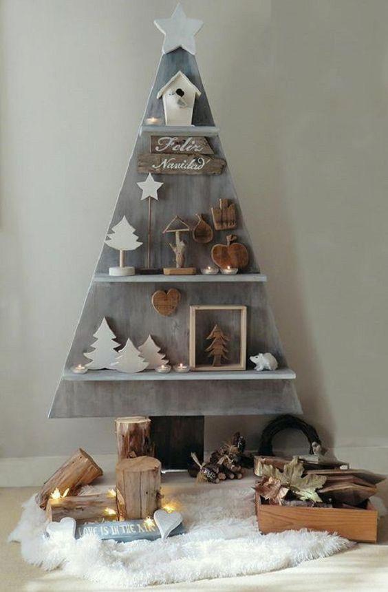 Une autre idée d'arbre de Noël en bois