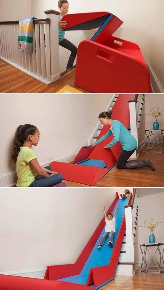 Transformer un escalier en glissade