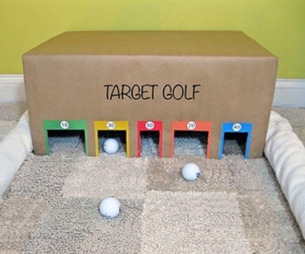 Jeux de golf en carton pour les enfants
