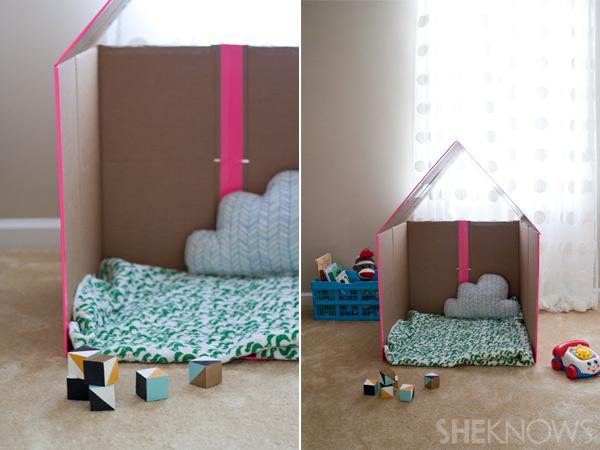 Maison en carton pour petite fille