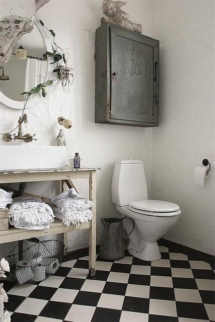 meuble au dessus de la toilette