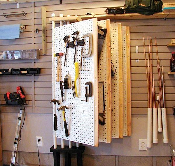rangement dans l'atelier des outils
