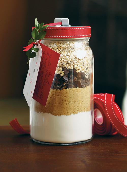 Recette de biscuit dans un pot mason pour Noël