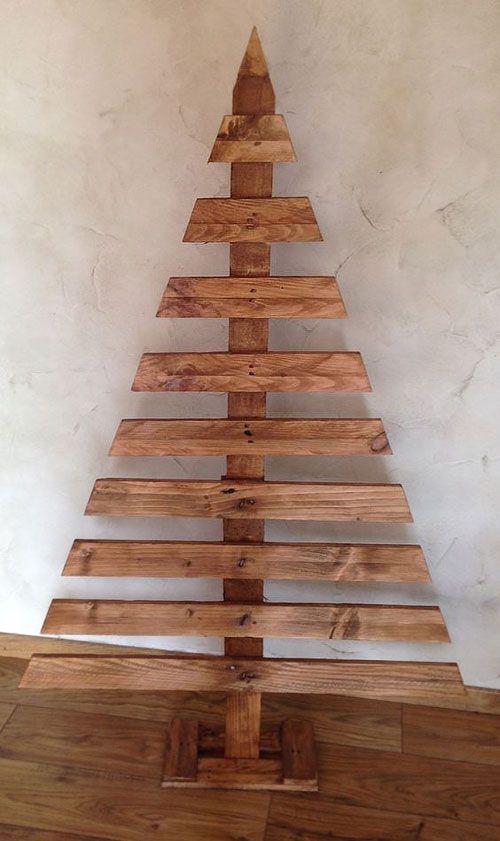 Un arbre de Noël facile à faire avec des planches de bois