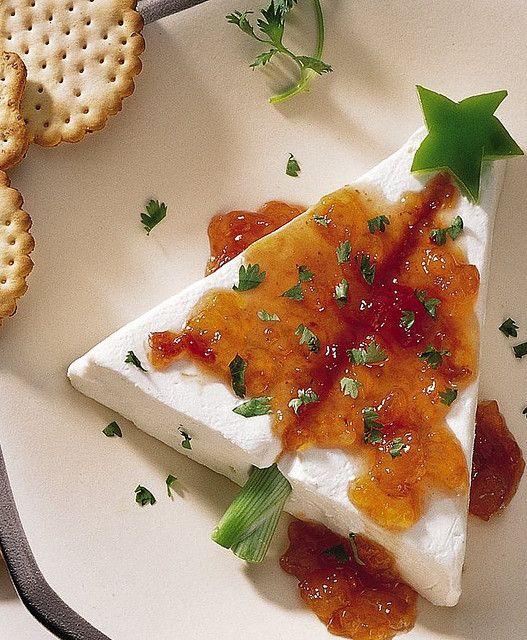 sapin de Noël avec fromage à la crème