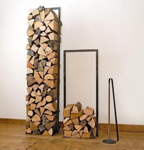 Support de métal pour le bois de chauffage