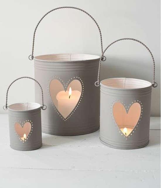 chandelier avec une boite de conserve