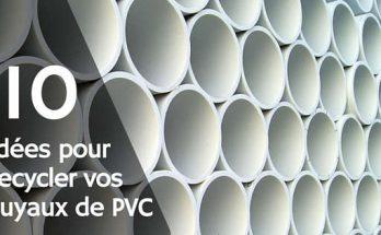 Recycler des tuyaux de PVC blanc