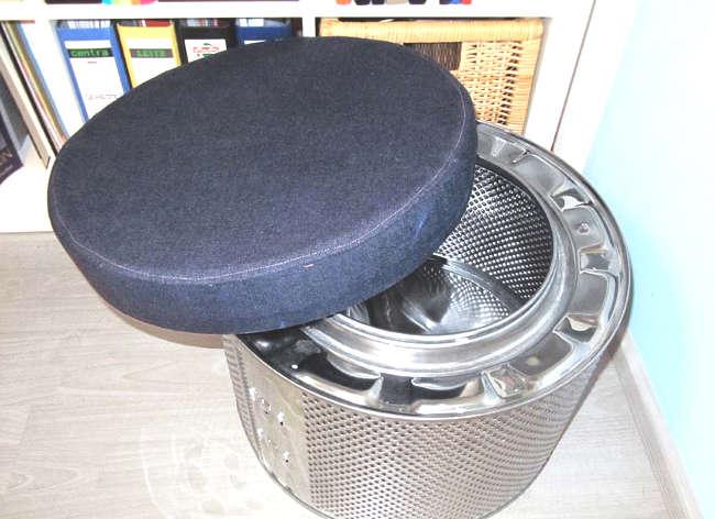 Fabriquer un pouf avec un tambour de machine à laver