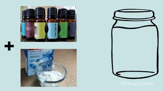 Désodorisant maison avec bicarbonate de soude et huiles essentielles