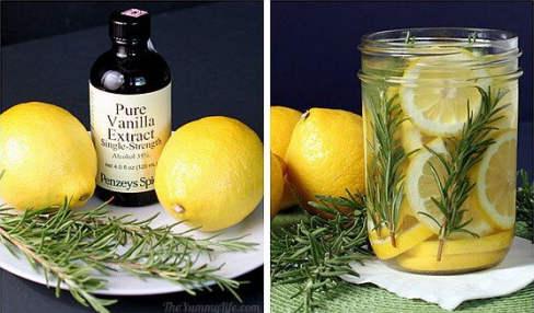 Citron et romarin comme désodorisant naturel