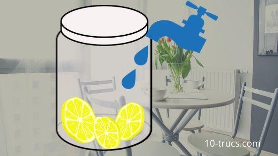 Désodorisant maison avec tranche de citron