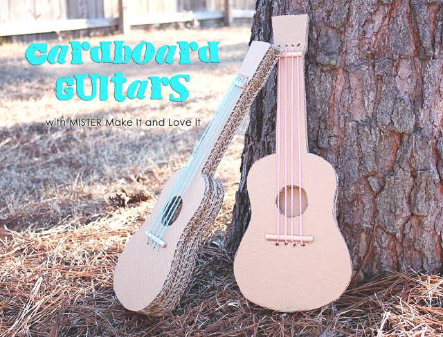 bricolage, fabriquer une guitare en carton