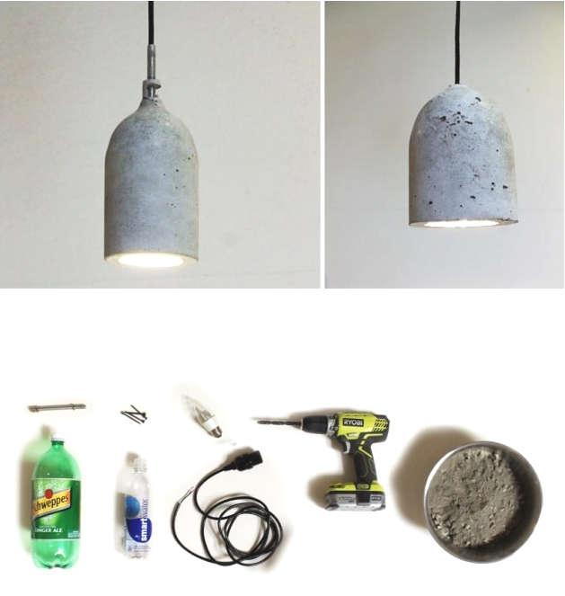 fabriquer une lampe en béton
