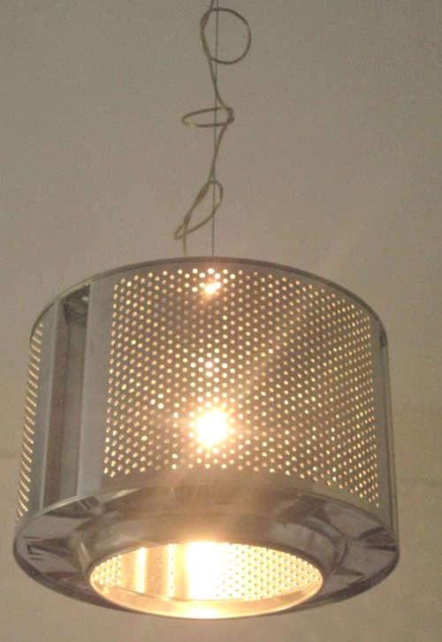 Fabriquer une lampe suspendue avec une cuve de machine à laver