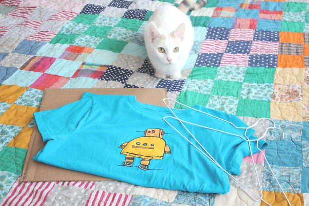 Matériel pour fabriquer une tente pour chat