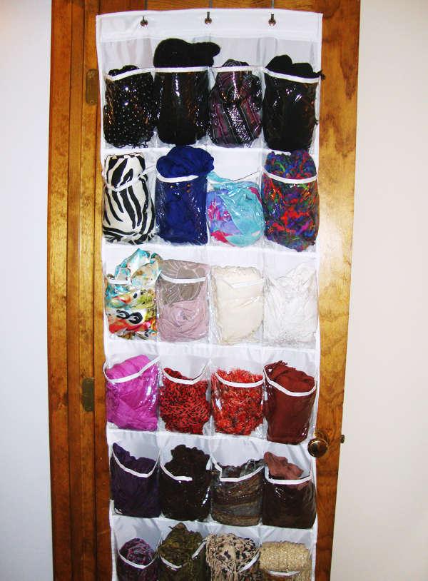 organize scarves, rangement pour écharpes