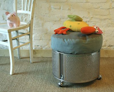 rangement pour les jouets dans un tambour de lave linge