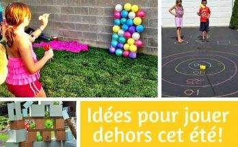 Idée de jeux pour jouer dehors cet été pour les enfants