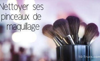 nettoyer les pinceaux de maquillage