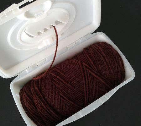 idée pour ranger une balle de laine