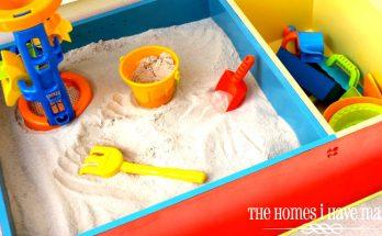 fabriquer un bac à sable avec une bibliothèque et commode