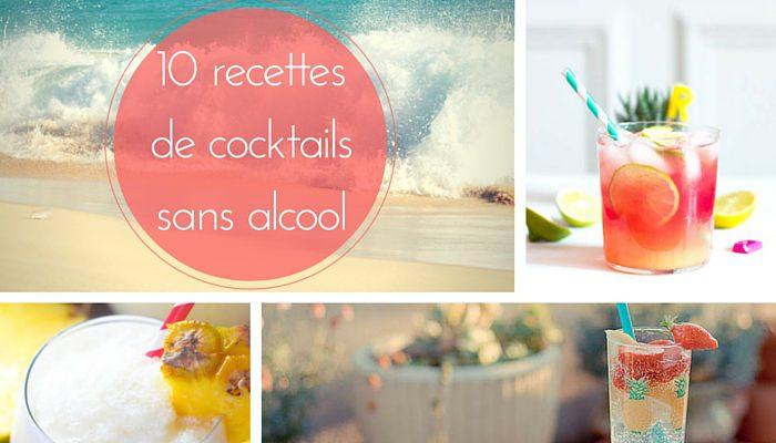 Recette de cocktails sans alcool