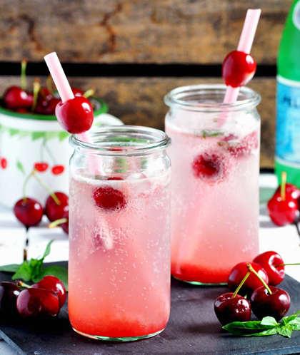 recette de limonade à la cerise et basilic